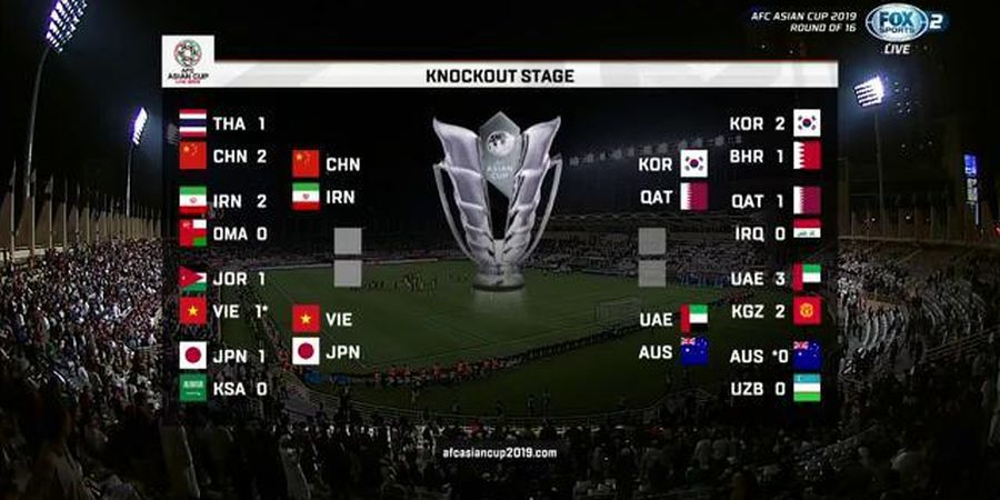 Rekap Piala Asia, Vietnam Duta Tunggal Asia Tenggara di Perempat Final