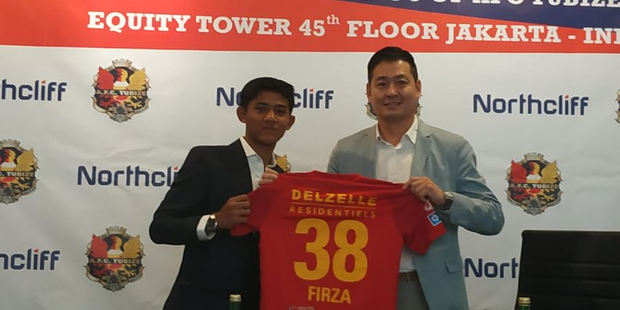 Resmi Gabung Klub Belgia, Firza Andika Kenakan No 38 di AFC Tubize