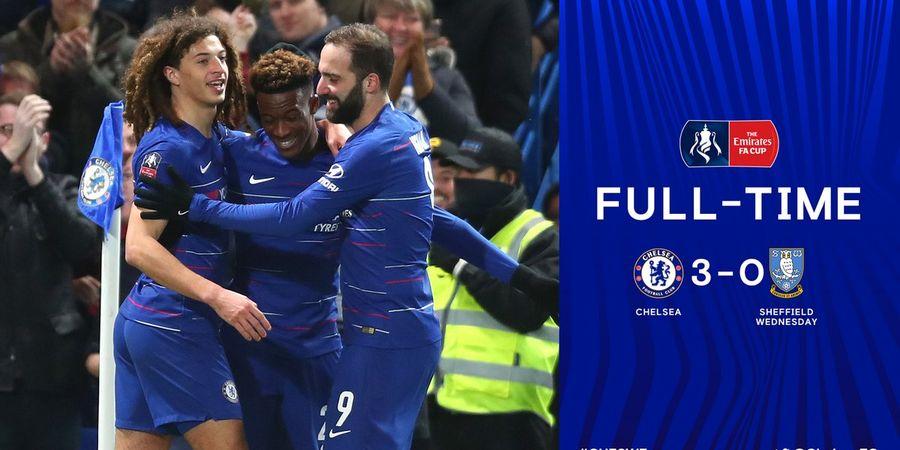 Hasil Piala FA - Gonzalo Higuain Debut di Chelsea, Tottenham Kandas di Babak Ke-4