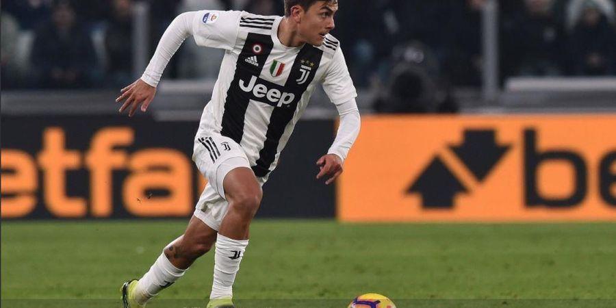 VIDEO - Ronaldo Terpeleset, Tembakan Roket Dybala Bawa Juventus Unggul