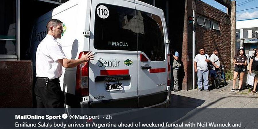 Jenazah Emiliano Sala Telah Tiba di Argentina Untuk Dimakamkan