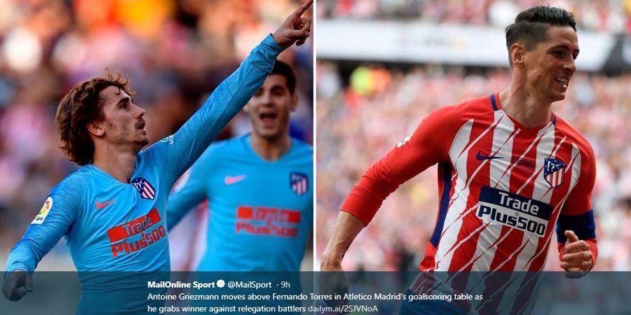 Antoine Griezmann Lampaui Rekor Gol Fernando Torres di Atletico Madrid