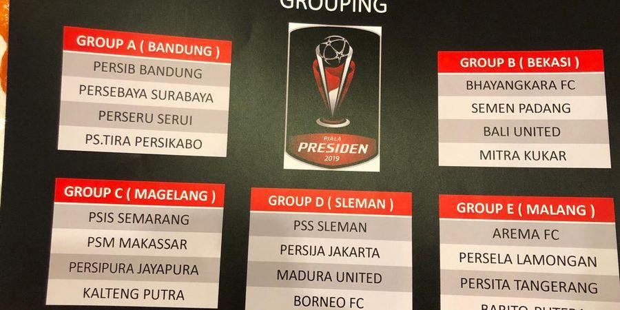Jadwal Grup A Piala Presiden 2019 - Persib dan Persebaya Akan Berhadapan
