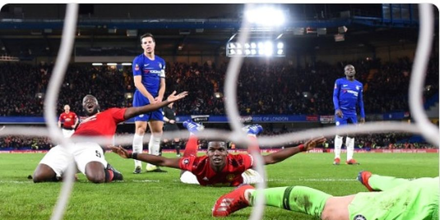 VIDEO - Gol Herrera dan Pogba Antar Man United Depak Chelsea dari Piala FA