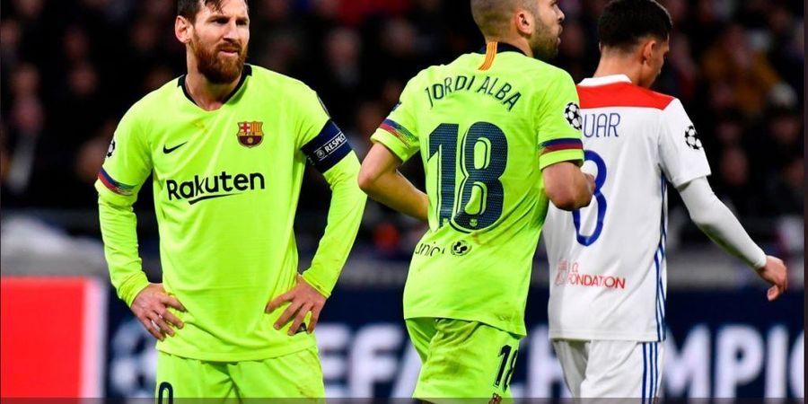 Olympique Lyon Vs Barcelona, Bukan Malam Indah buat Lionel Messi