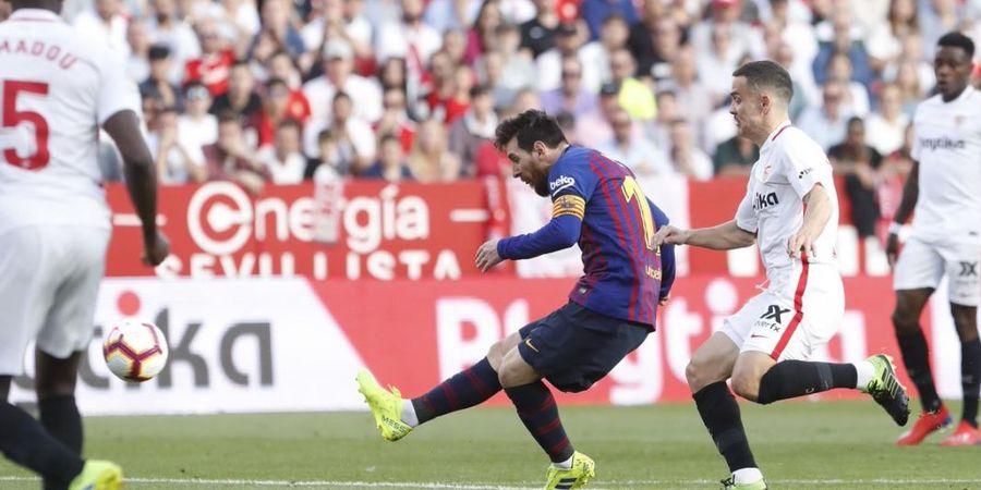 VIDEO - Gol Kaki Kiri dan Kanan Messi Saat Jinakkan Tuan Rumah Sevilla