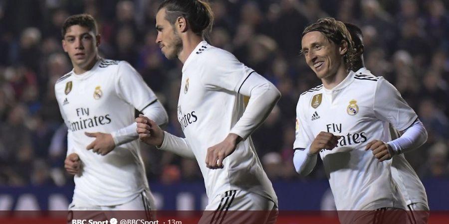 Hasil Liga Spanyol - 2 Gol Penalti Bawa Real Madrid Raih Kemenangan