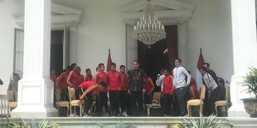 Beragam Permintaan Pemain Timnas U-22 Indonesia kepada Presiden, Jokowi: Cari Kesempatan