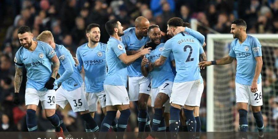 Hasil Liga Inggris - Sterling Hat-trick, Manchester City Jauhi Liverpool