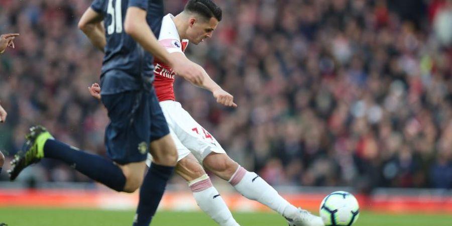 Arsenal Vs Man United - Solskjaer Cengang dengan Sepakan Geledek Xhaka