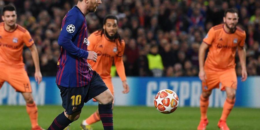 VIDEO - Gol Penalti Panenka Lionel Messi Benar-benar Tipu Kiper Olympique Lyon