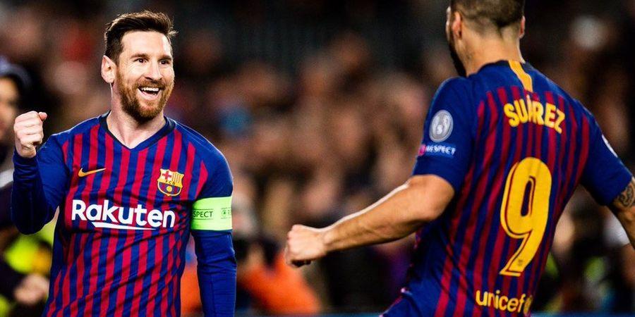 Hasil Liga Champions - Messi Menggila, Barcelona ke Perempat Final dengan Habisi 2 Kiper Lyon