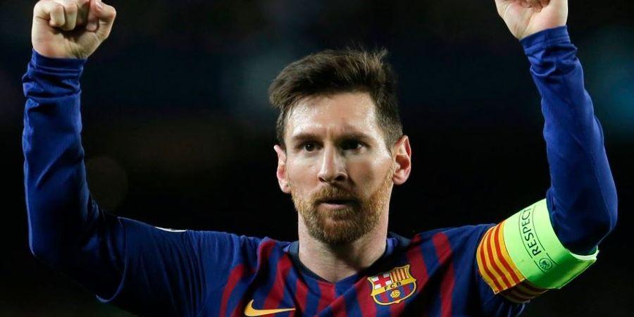 VIDEO - Lionel Messi Cetak Gol Ketiga Barcelona dengan Gocek Bek Lyon Sampai Jatuh