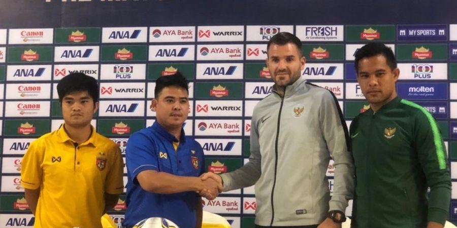 Diwarnai Satu Penalti Gagal, Timnas Indonesia Ungguli Myanmar di Babak Pertama