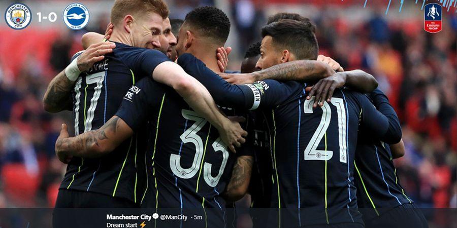 Hasil Piala FA - Sempat Tak Berkutik, Man City Lolos Berkat Gol Cepat