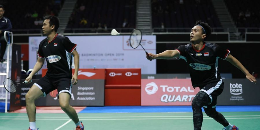 Link Live Streaming Final Singapore Open 2019 - Anthony dan Ahsan/Hendra Jadi Harapan Indonesia Raih Gelar