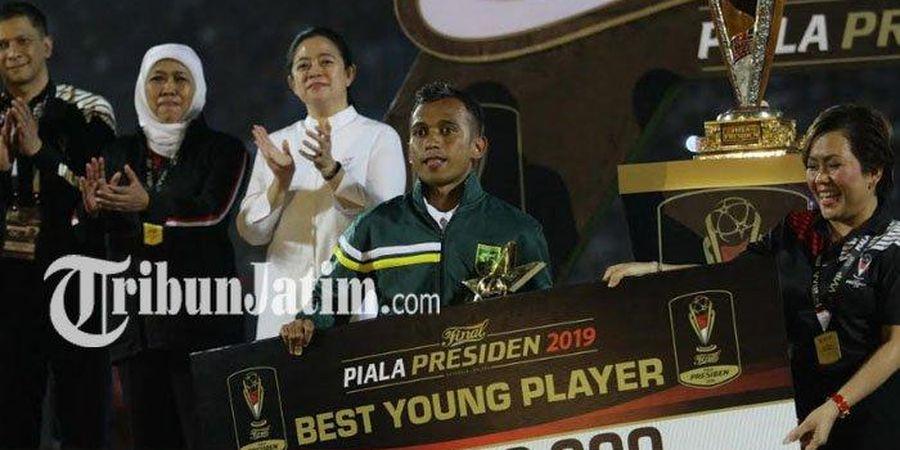 Kata Irfan Jaya Usai Raih Penghargaan Pemain Muda Terbaik Piala Presiden 2019