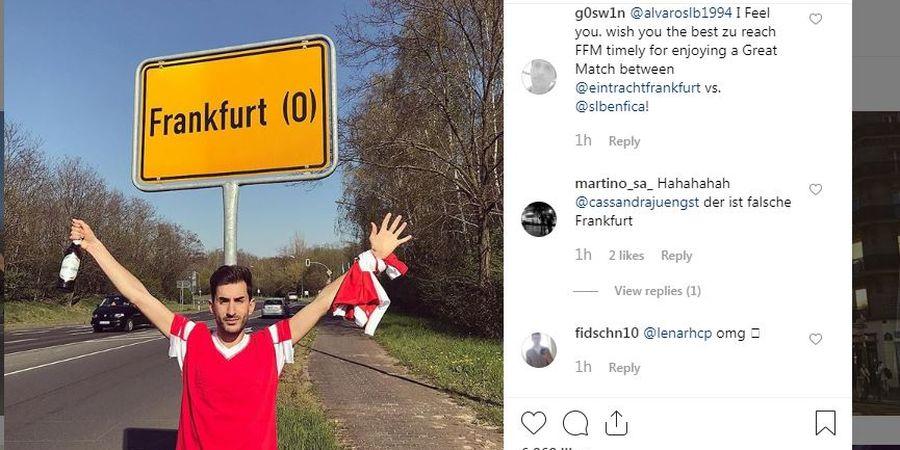 Suporter Nyasar 600 Km untuk Nonton Duel Liga Europa Frankfurt Vs Benfica