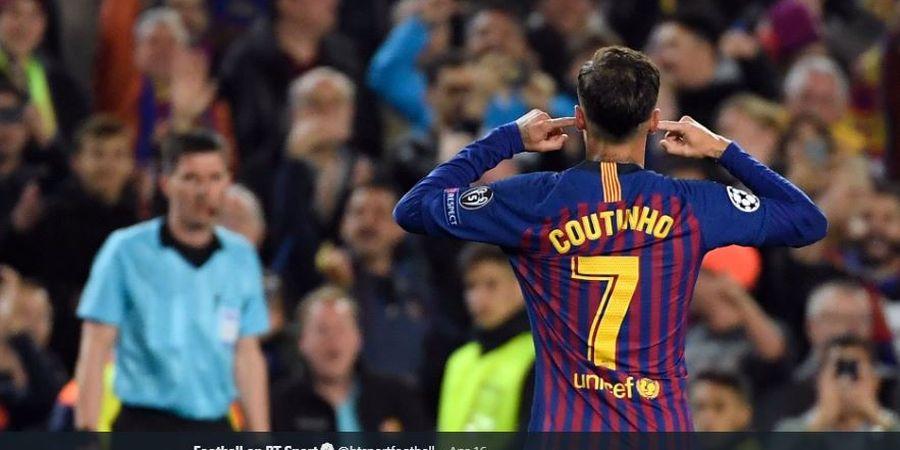 Makna Selebrasi Tutup Kuping Coutinho yang Dicibir Fan Barcelona