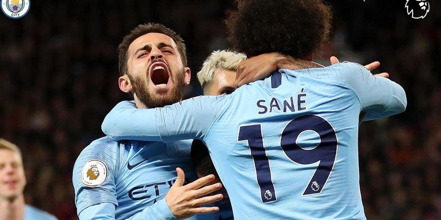 Hasil Liga Inggris - Permalukan Man United, Man City Lengserkan Liverpool dari Puncak