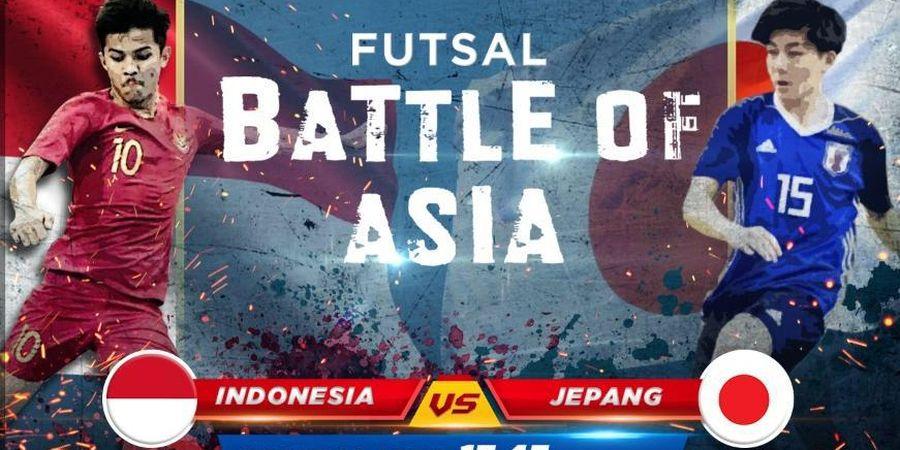 Link Streaming Timnas Futsal Indonesia U-20 Vs Jepang, Ujian Pertama di Ajang Battle Of Asia