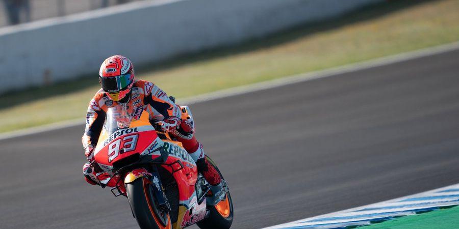 VIDEO - Aksi Magis Marc Marquez Agar Tak Jatuh di Kualifikasi GP Spanyol