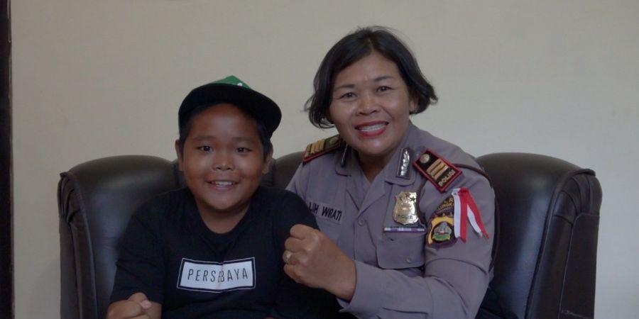 Kisah Bonek Cilik Pengayuh Sepeda Antarpulau, Impiannya Terwujud Berkat Polwan di Bali