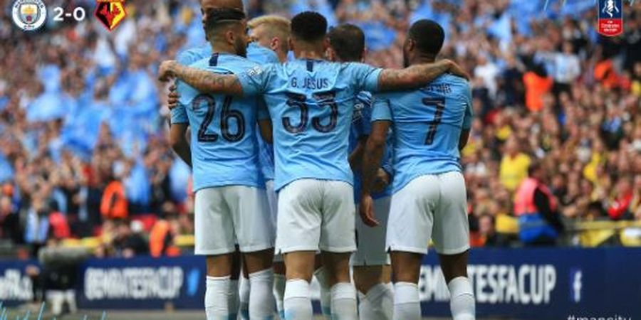 VIDEO - 2 Gol Manchester City Menuju Juara Piala FA 2018-2019