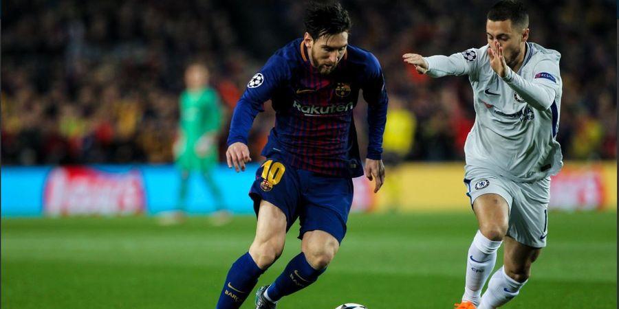 Video Mantan Pemain Arsenal Permalukan Messi Dua Kali di Final Copa Del Rey