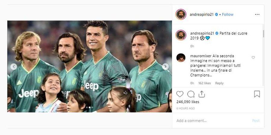 VIDEO - Kerja Sama Totti, Pirlo, dan Berujung Salto Cristiano Ronaldo