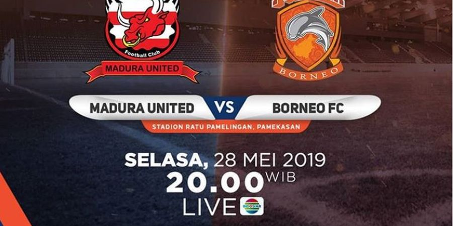 Link Live Streaming Madura United Vs Borneo FC, Dejan Antonic Ingin Pertahankan Kemenangan