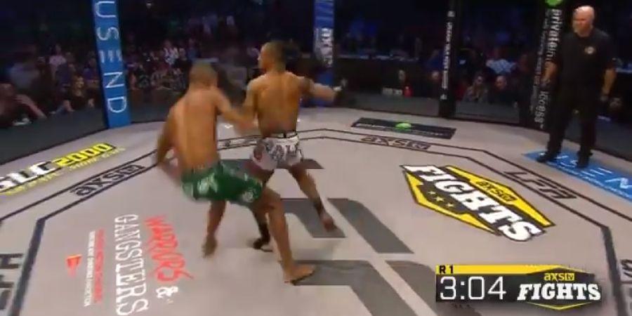 VIDEO - Kalah Tinggi, Petarung MMA ini Hempaskan Lawan dengan Cara Brutal