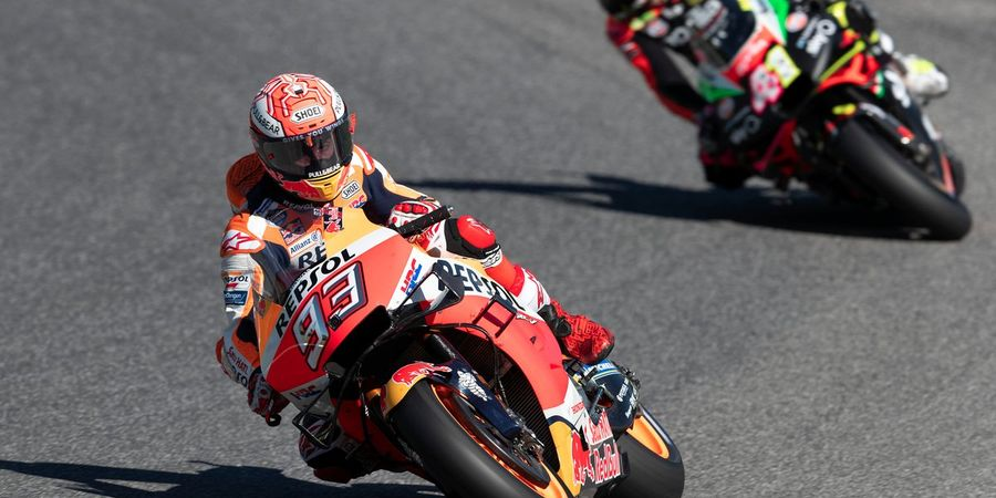 Video Aksi Gila Marc Marquez Melahap Duo Ducati di Mugello