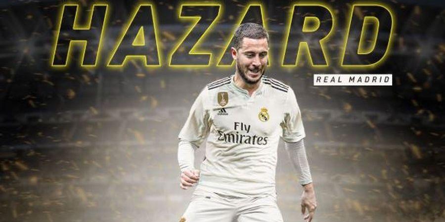 Toko Resmi Real Madrid Mulai Jual Jersey Hazard dengan Nomor Punggung Ronaldo