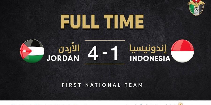 Timnas Indonesia Ditundukkan Yordania dengan Skor Telak