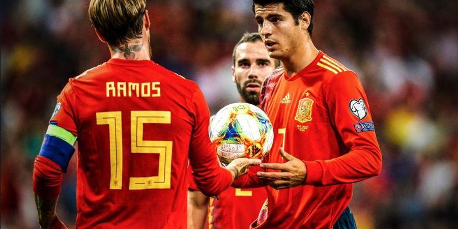 Misi Mulia Sergio Ramos di Balik Tendangan Penalti Alvaro Morata