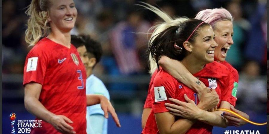 Piala Dunia Wanita 2019 - Thailand Dihajar 13 Gol oleh Juara Bertahan