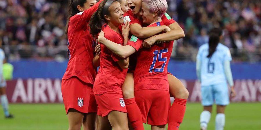 Bantai Thailand 13-0, USA Cetak Rekor Kemenangan Terbanyak dalam Sejarah Piala Dunia Wanita