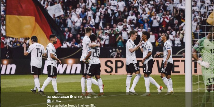 Hasil Babak I, Timnas Jerman Berondong 5 Gol ke Gawang Estonia