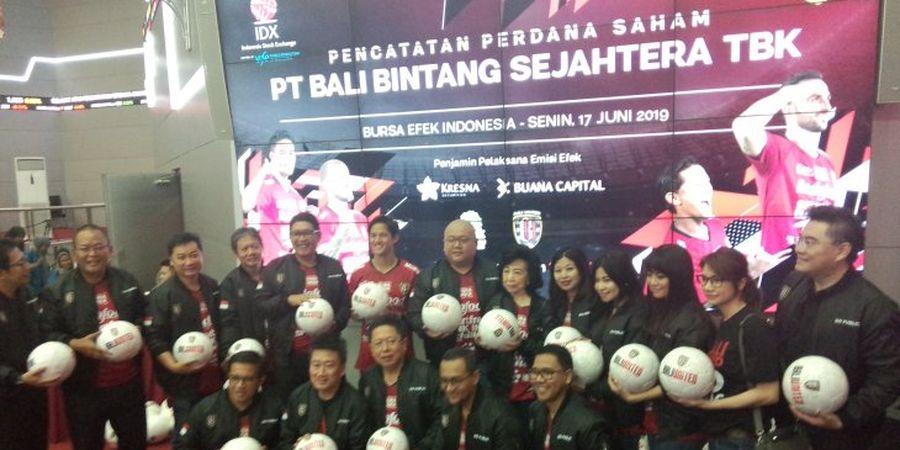 Bali United Resmi Tercatat di Bursa Saham, Harga Sahamnya Naik 69 Persen Sejak IPO