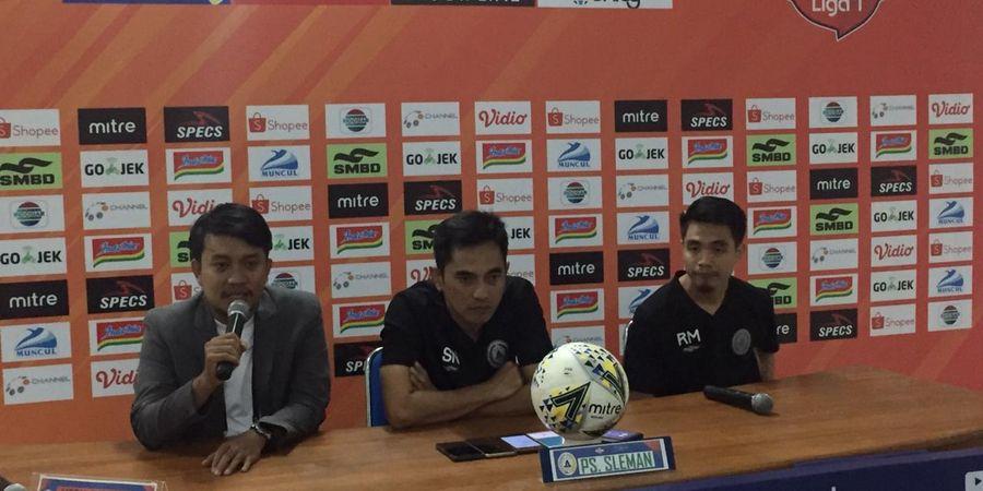 Pelatih PSS Sleman Singgung Manajemen Setelah Ditahan Imbang Bhayangkara FC