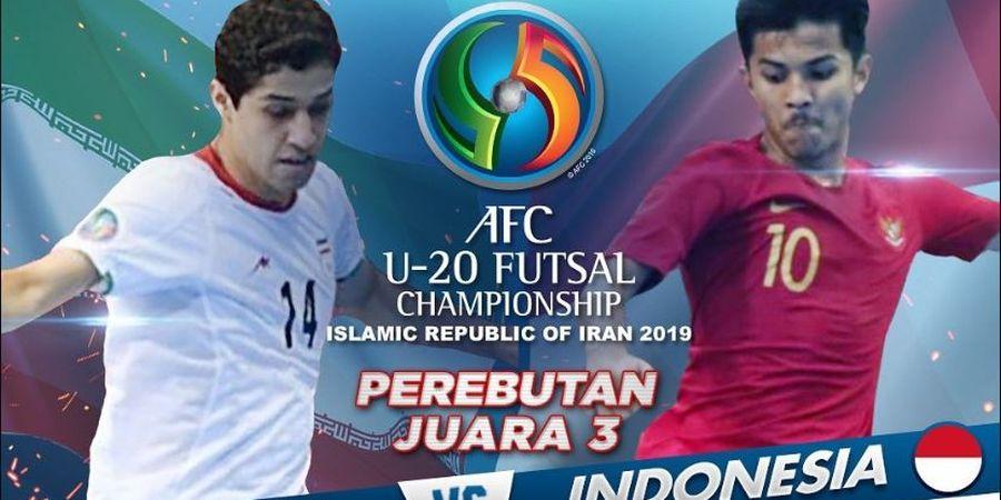 Link Live Streaming Timnas Futsal U-20 Indonesia Vs Iran, Perebutan Peringkat Ketiga