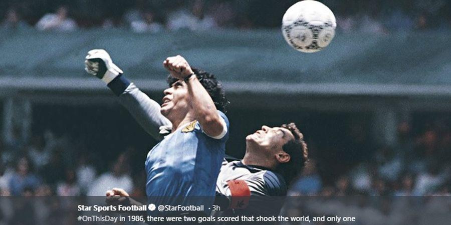 Sejarah Hari Ini - Lahirnya Gol Tangan Tuhan Lewat Diego Maradona