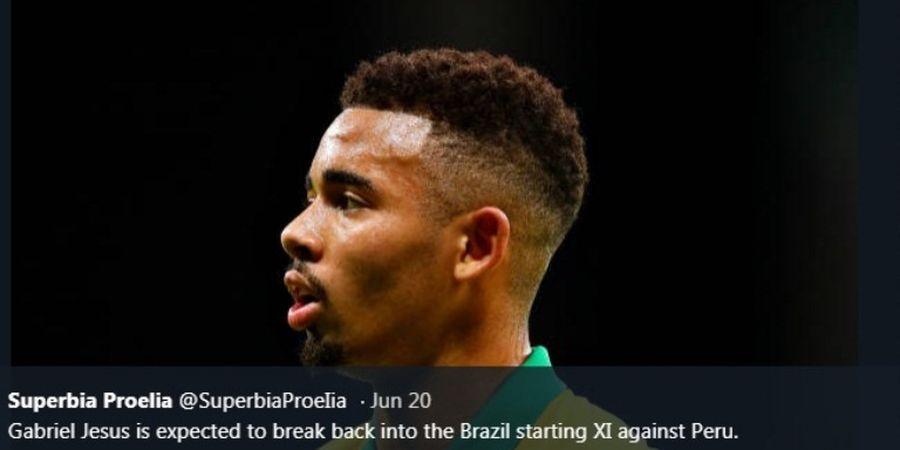 Copa America 2019 - Gabriel Jesus Mandul  621 Hari bareng Timnas Brasil