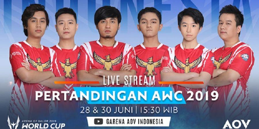 Live Streaming Indonesia Lawan Taiwan pada AOV World Cup 2019 Hari Ini