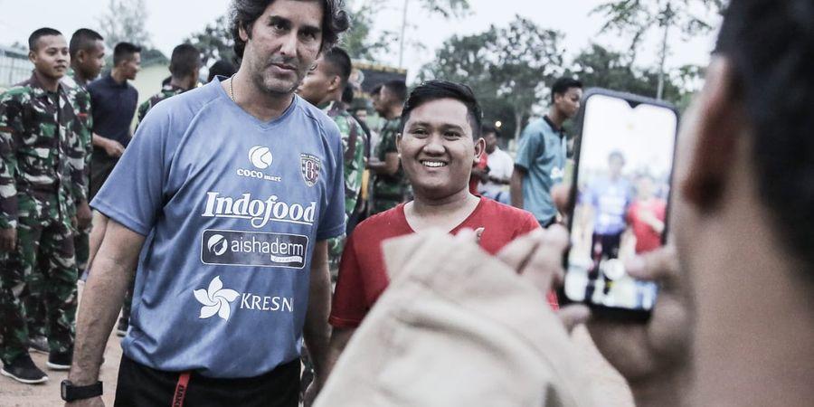 Bali United Gelar Sesi Latihan di Lampung, Teco Puji Antusiasme Fan