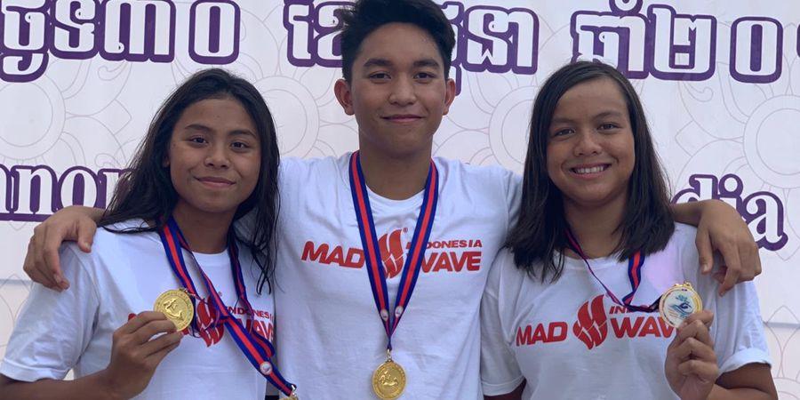 Indonesia Kembali Rebut 4 Emas di Turnamen Renang di Kamboja