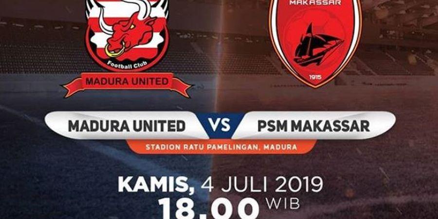 Link Live Streaming Madura United Vs PSM Makassar, Bayu Gatra Jadi Sorotan