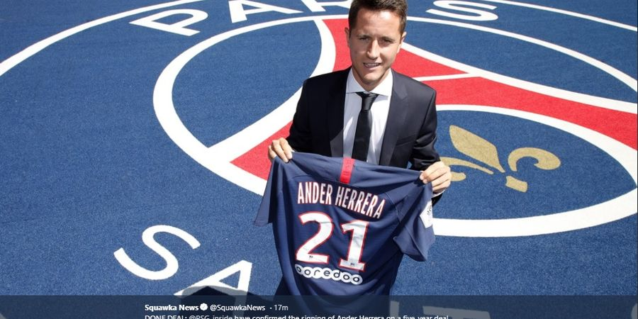 BREAKING NEWS - Ander Herrera Resmi Berlabuh di Paris Saint-Germain