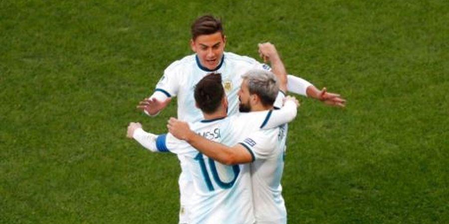 Bikin Operan Ajaib untuk Gol Sergio Aguero, Lionel Messi Kena Kartu Merah